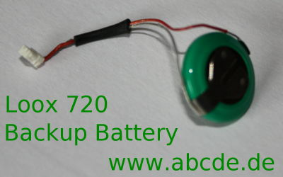 Loox 720 backup battery